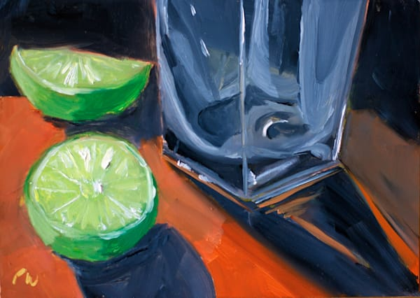 Glass and a Lime painting by Paul William | Fine Art for Sale