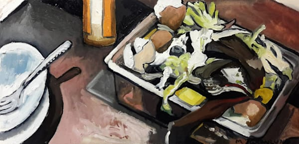 Sinkside Compost 7 Painting by Mark Granlund