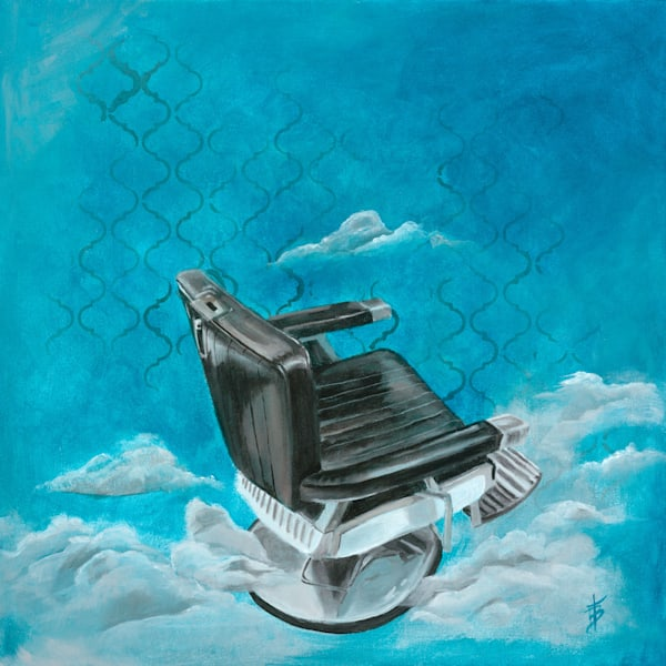 Barber Chair Blue