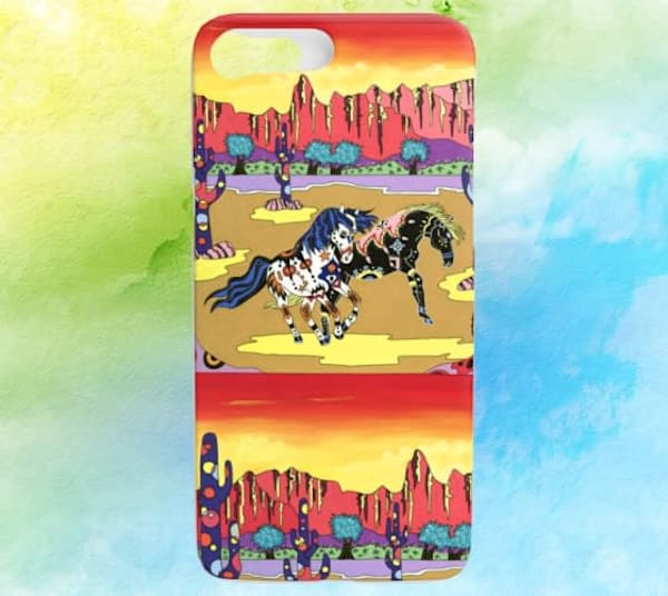 Playful Horses Phone Cover iPhone 7/8 Regular