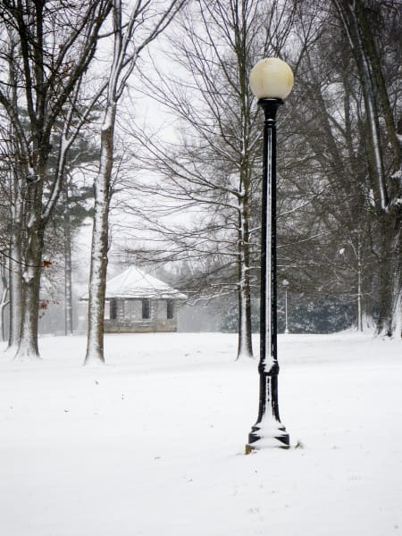 East Campus Lamp Post and Gazebo