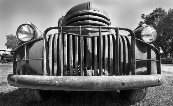 Smiling Grill Face In The Morning Old Chevrolet ranch truck fleblanc