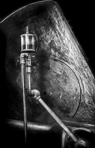 Classic High Contrast Corliss Steam Engine Industrial Detail fleblanc