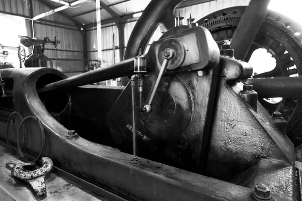 Industrial Corliss Steam Powered Generator Engine Working fleblanc