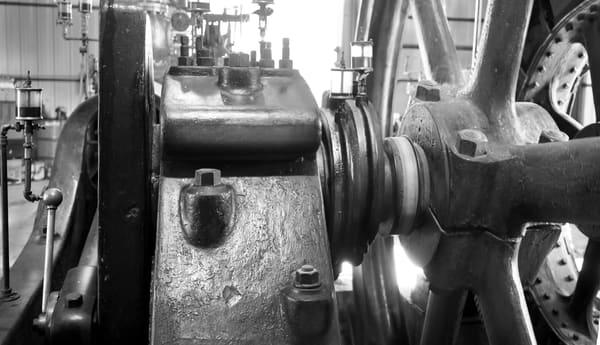 Rare Corliss Steam Powered Electricity Generator Detail fleblanc