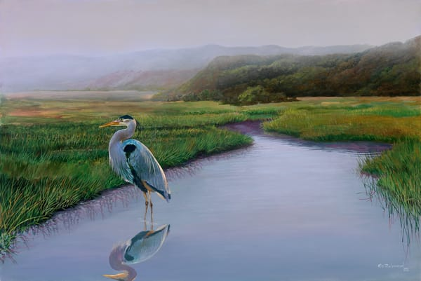Great Blue Heron painting from Martha's Vineyard and Island Images Gallery