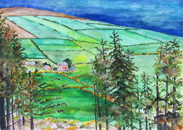 Walking Down From Blackstairs Mountain Art | David Beale