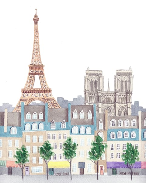 Purchase Whimsical Art of Iconic Cities - Watercolor Paintings