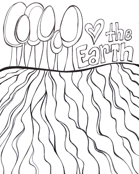 Love The Earth Color It DIY Art For Sale