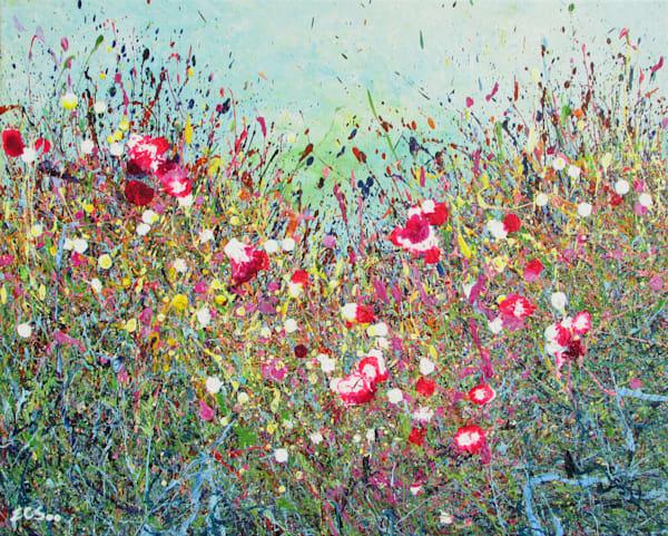 Abstract Wildflowers Art/Acrylic Painting/En Chuen Soo Fine Art