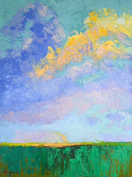 Touching the Sky, Original Oil Painting, Clouds Skyscape