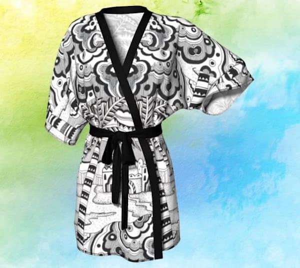 Black Desert Kimono Robe