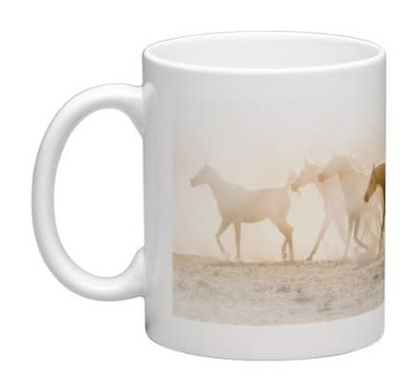 Wraparound Mug   Dust Arabs | HoofPrintsFineArt