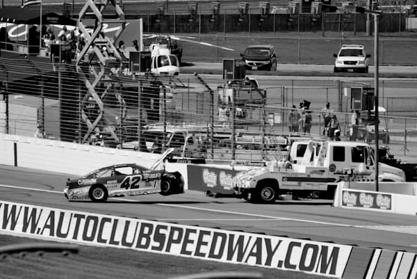 Tow To Garage, Auto Club Speedway Art | ARTHOUSEarts