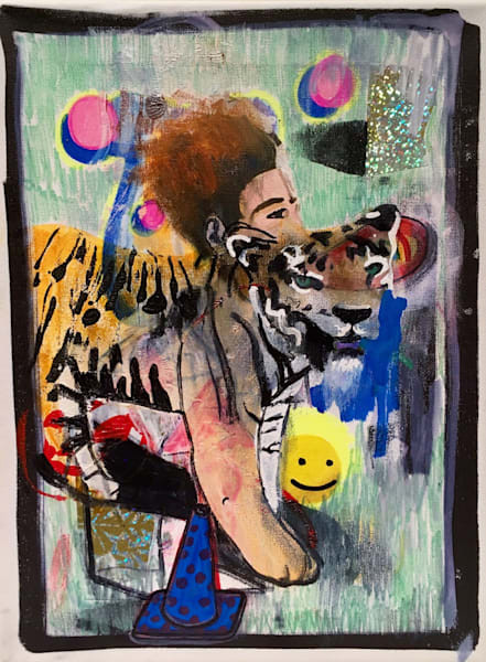 Spirit Animal Original Painting by Brandon Sines Available on Wet Paint NYC - Affordable Art