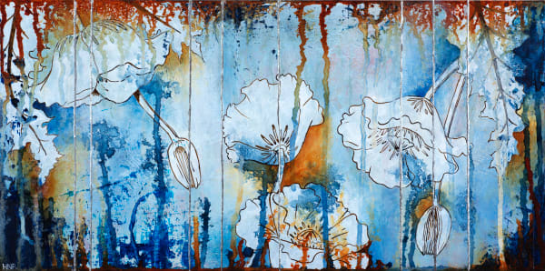 Poppies (Blue), a fine art print by Heather Robinson