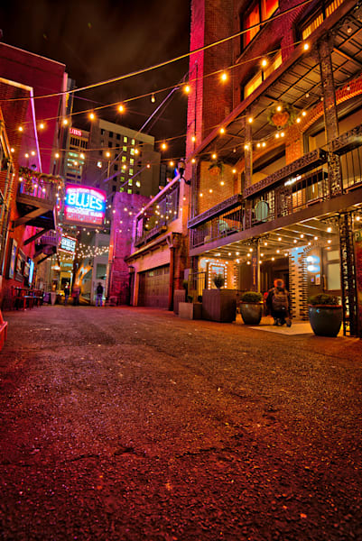 Nashville Printers Alley at Night Photograph