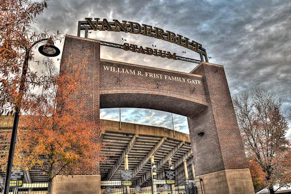Vanderbilt Stadium Gate Photograph