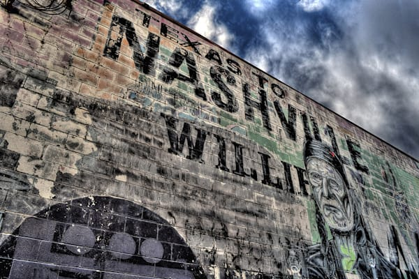 Willie Nelson Mural Photograph