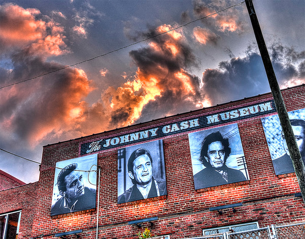 Johnny Cash Museum Sign photograph