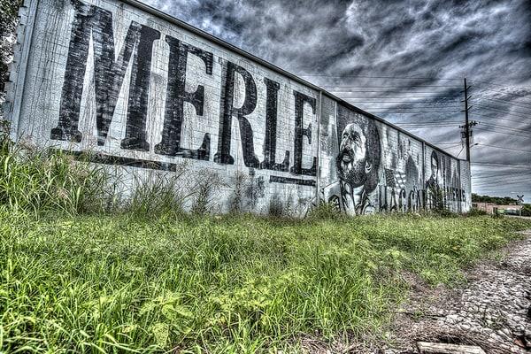 Merle Haggard Mural Nashville Photograph