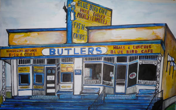 Butlers Cafe  Art | Art By Dana