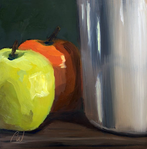 Apples and Pottery Still Life by Paul William | Fine Art for Sale