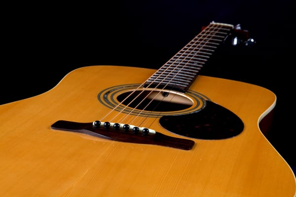 Acoustic Classic Guitar in color photograph