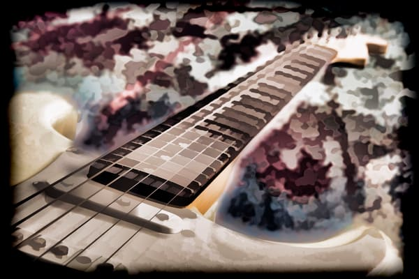Electric Guitar Image Painting in Color 3318.02