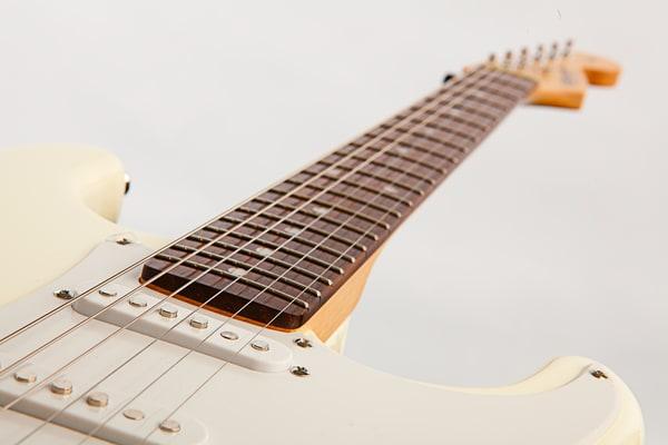 White Electric Guitar Imagae on White background