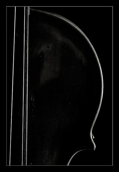 Dark Antique Violin  Image in Sepia 1732.28