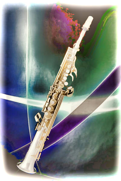 Wall Art Painting Soprano Saxophone 3340.02