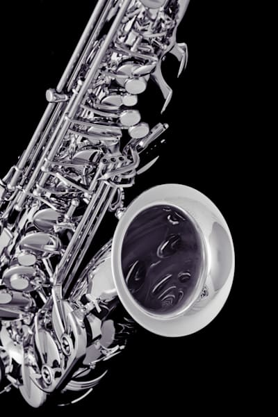 Saxophone Metal Art on Black 3266.01