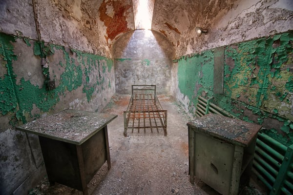 inmates prison cells,  penitentiary art photographs, bed frame in prison cell, state prison photography,