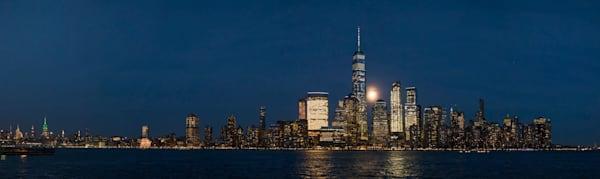 Manhattan Moonrise Panorama
