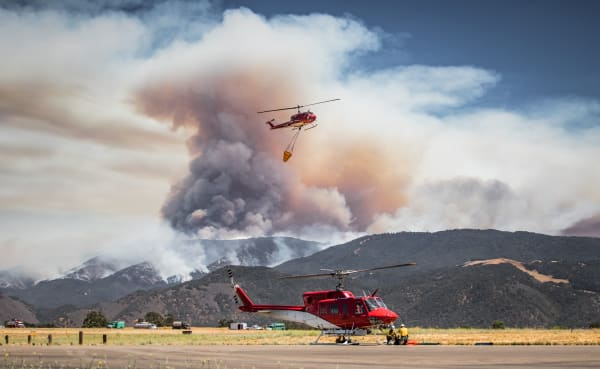 Whittier Fire Helicopter Ops