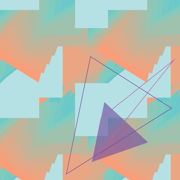 wall art, triangle, art, gradient, spectrum