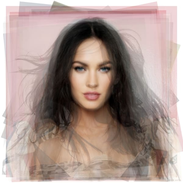 Overlay art – contemporary art prints for sale of Megan Fox
