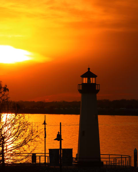 Sunset lighthouse Wall Art 1400.06