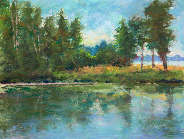 Fish Creek Reflections print by Dianne Saron.