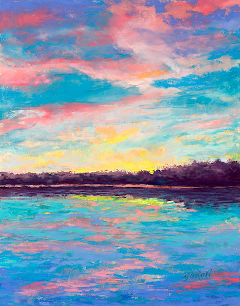 Colorful Morning a reproduction of a pastel painting by Dianne Saron