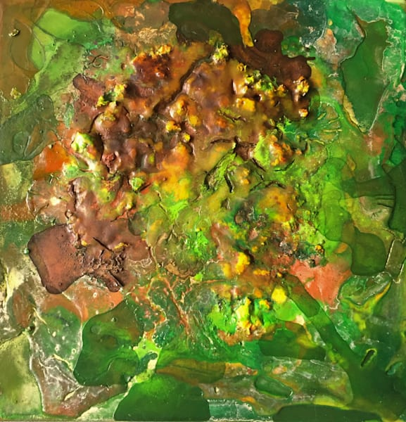 "Earth Art - Abstract Landscape Painting ""Arkla Landfill"" original painting by Sarah Hanson"