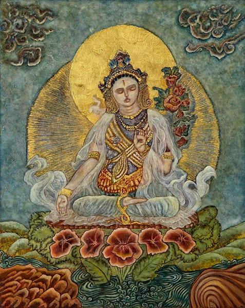 White Tara print by Andrea Bowes.