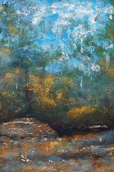 abstract landscape triptych