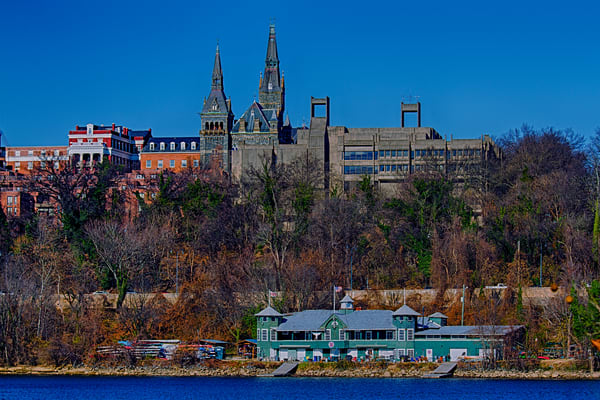 A Fine Art Photograph of Georgetown From The Shore by Michael Pucciarelli
