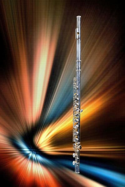 Flute Music Instrument Art Photographs in Color