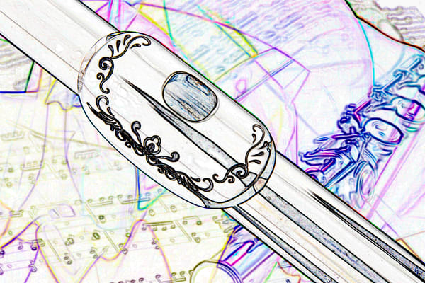 Flute Drawing Art Print 3448.03