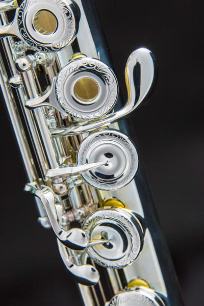 Flute G Key Metal Print 3446.02