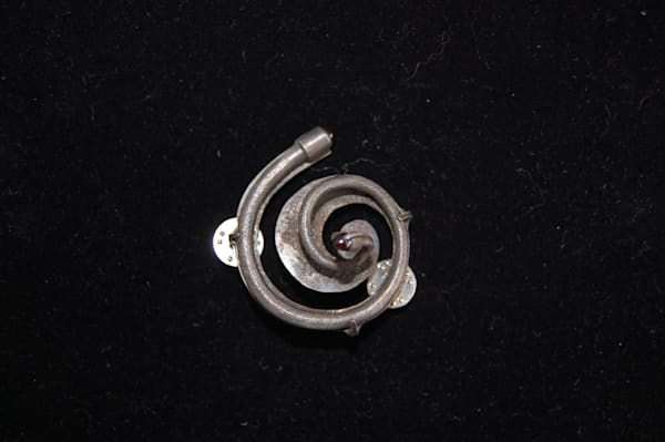 Hand Crafted Spiral Brooch made by artist David Clemons.