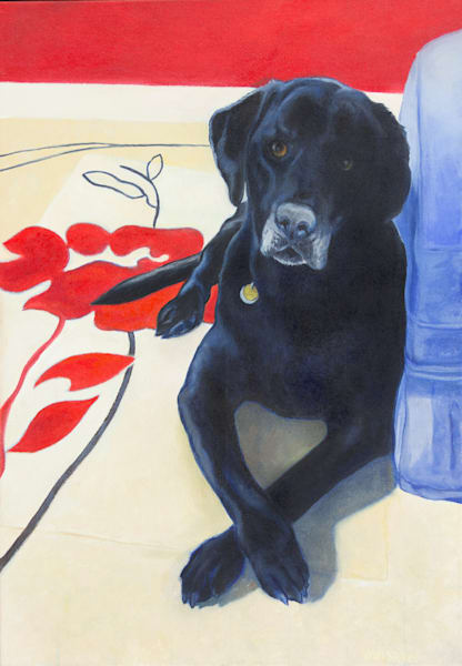 Louie (black lab) by John Van Sickel | Kansas Art Gallery